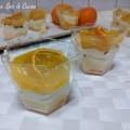 Bicchierini crema, mousse e gelatina mandarino
