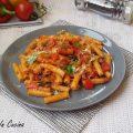 Pasta peperoni pancetta e olive