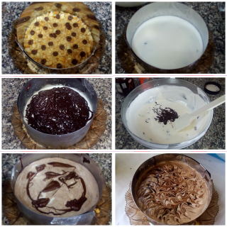 Torta fredda yogurt e nutella