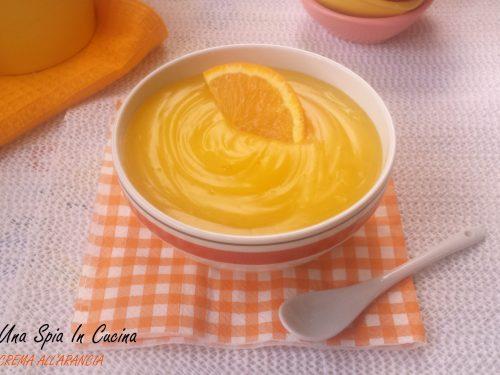 Crema all'arancia senza uova e latte