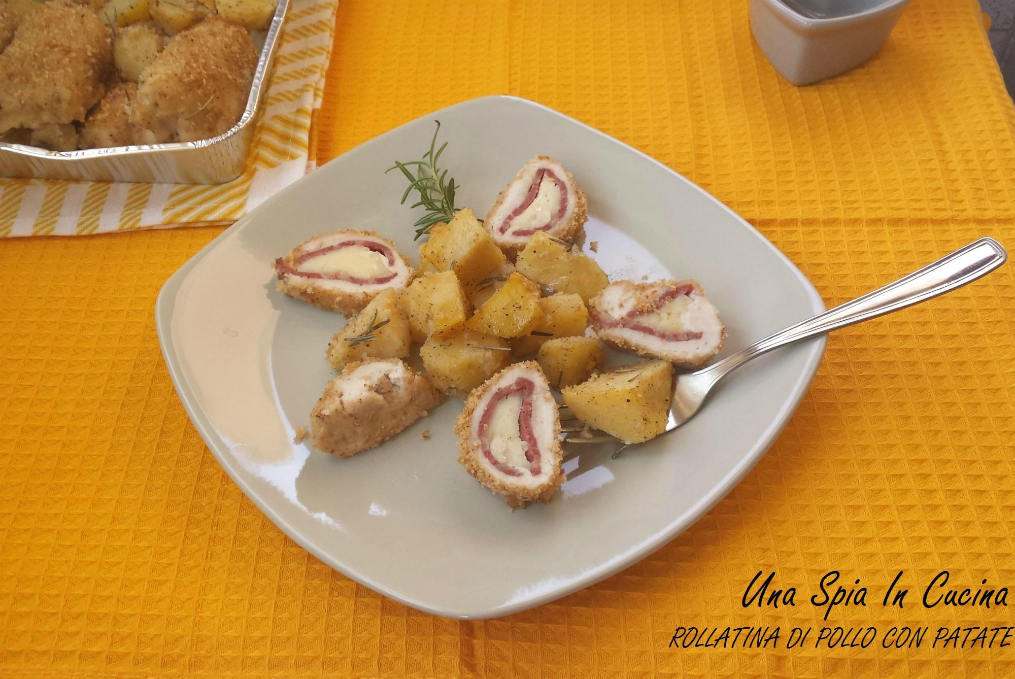 Rollatina di pollo al forno con patate