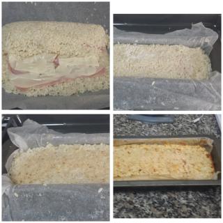 Rotolo di riso con prosciutto e formaggio