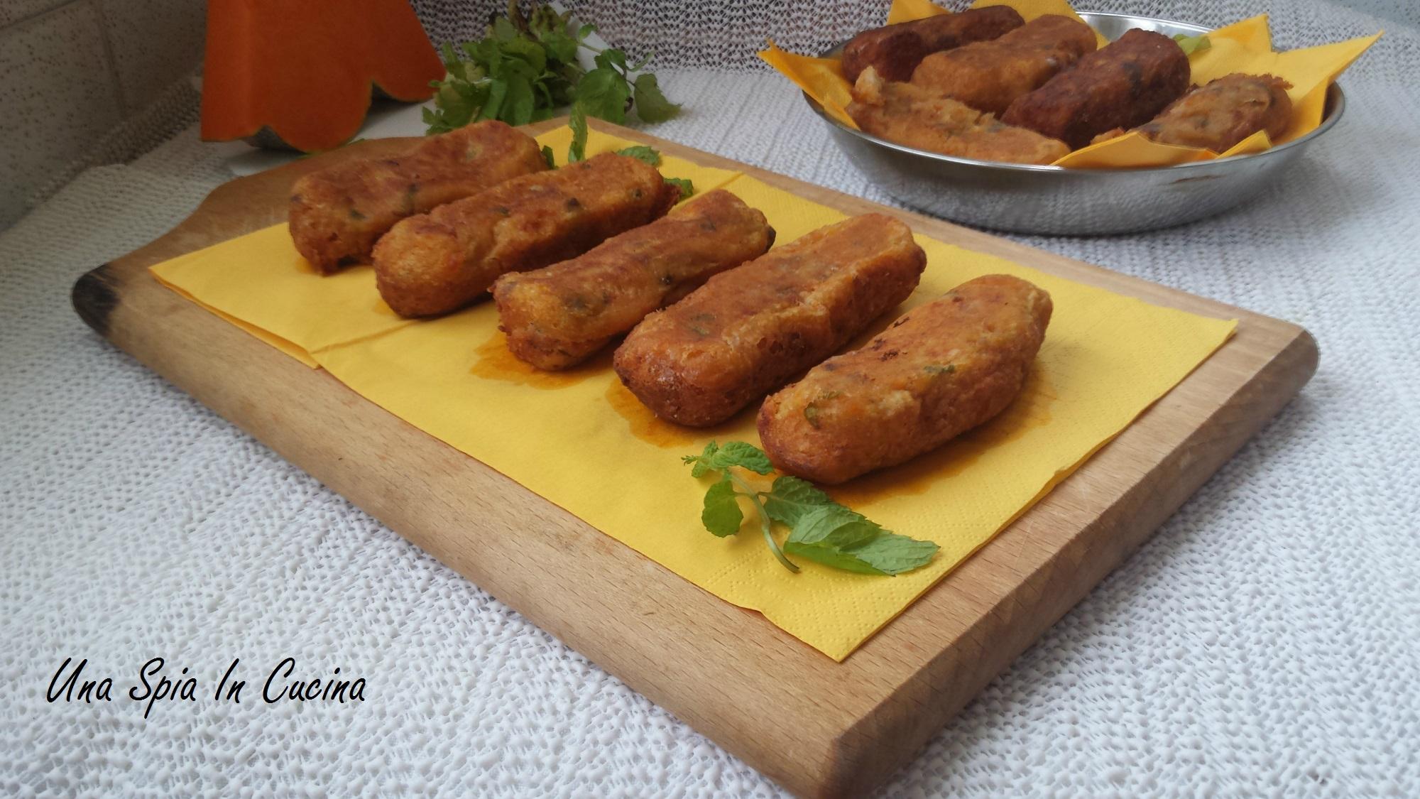 Crocchette di patate con zucca e funghi