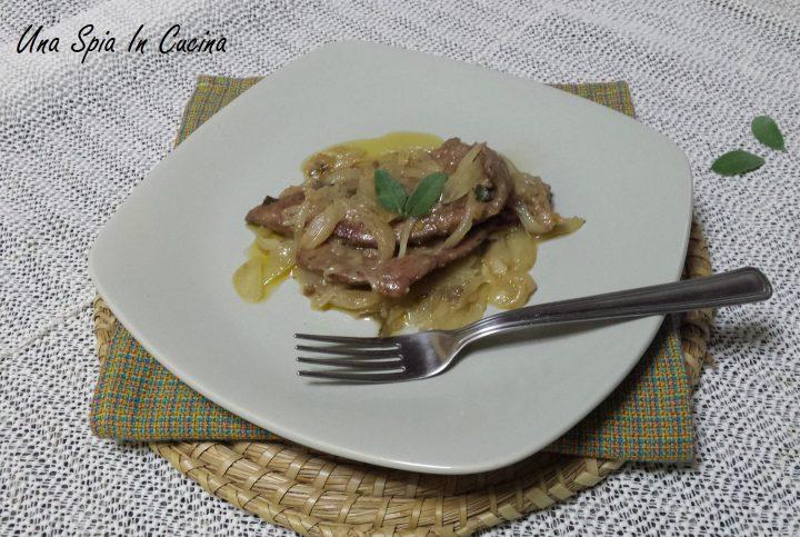 Fegato alla veneziana preparato da una siciliana