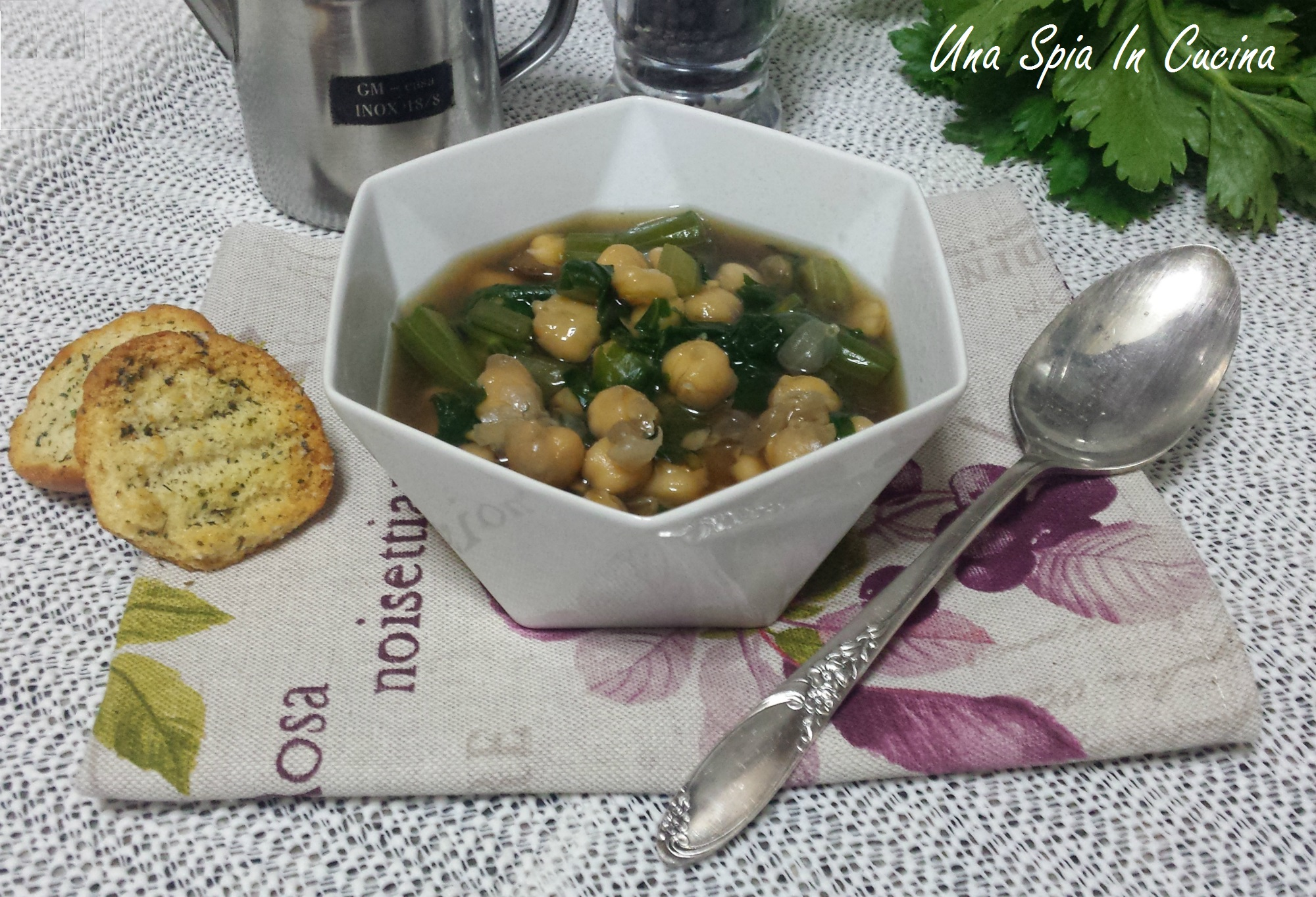 Zuppa di ceci con il sedano - cottura veloce