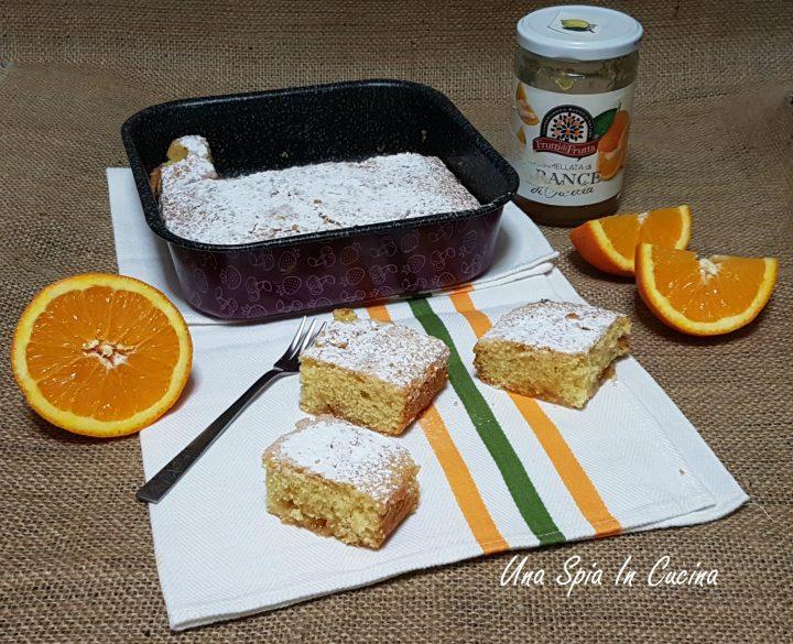 Torta senza uova con marmellata di arance sofficissima