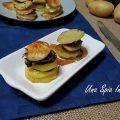 Torretta di patate con zucchine e funghi - Cottura in forno