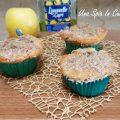 Muffin al limoncello con mele e crumble alla cannella