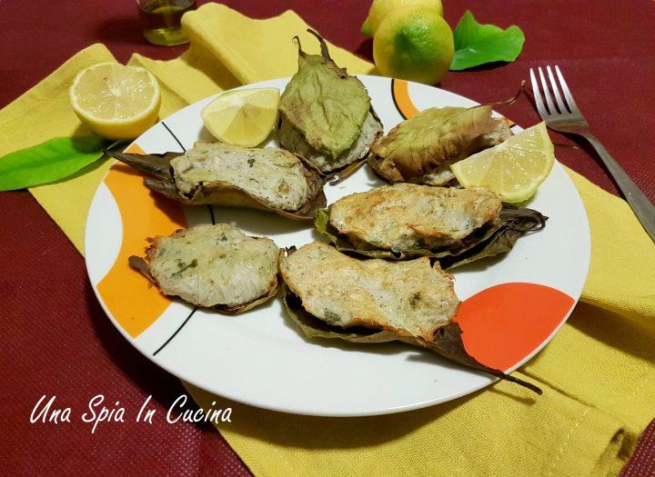 Neonata al forno in foglie di limone
