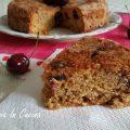 Torta alle ciliegie con farina integrale