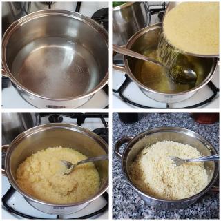 Couscous freddo con peperoni e zucchine