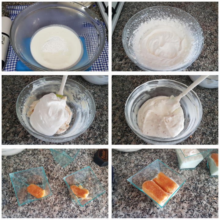 Crema fredda mascarpone e amaretti