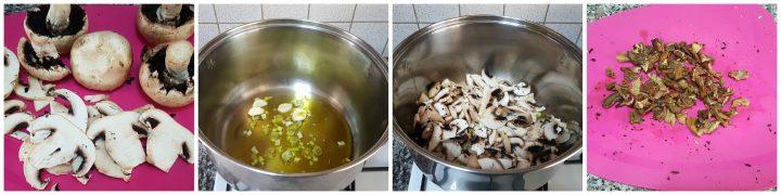 Risotto ai funghi champignon e porcini secchi