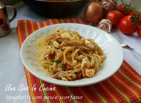 Spaghetti con pesce scorfano in brodetto