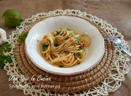 Spaghetti con bottarga al profumo di limone