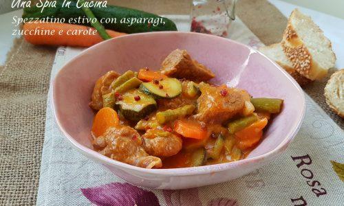 Spezzatino estivo con asparagi, zucchine e carote