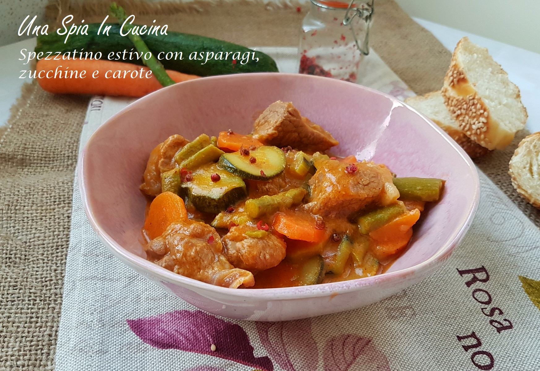 Ricetta Spezzatino Estivo.Spezzatino Estivo Con Asparagi Zucchine E Carote Una Spia In Cucina