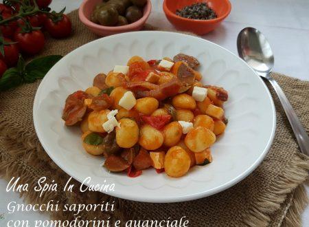 Gnocchi saporiti con pomodorini e guanciale