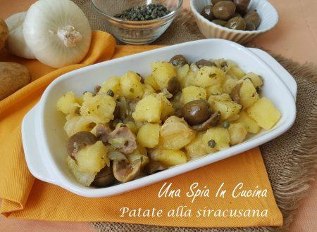 Patate alla siracusana in agrodolce con olive e capperi