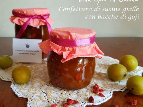Confettura di susine gialle e bacche di goji – metodo Ferber