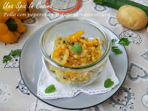 Pollo con peperoni e patate in vasocottura