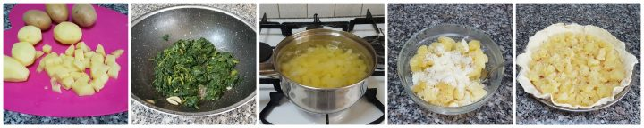 Torta rustica con patate, cime di rapa e stracchino