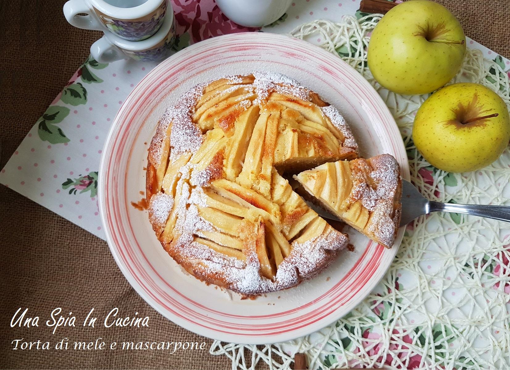 Torta di mele e mascarpone delicata e soffice