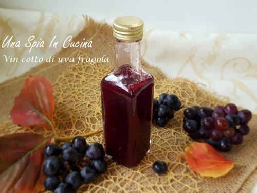 Vin cotto di uva fragola – come farlo a casa