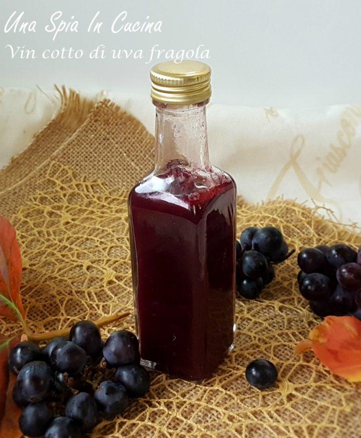 Vin cotto di uva fragola