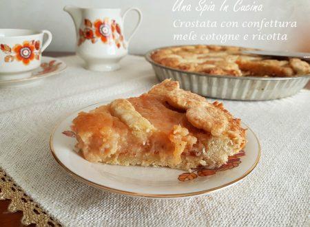 Crostata con confettura mele cotogne e ricotta