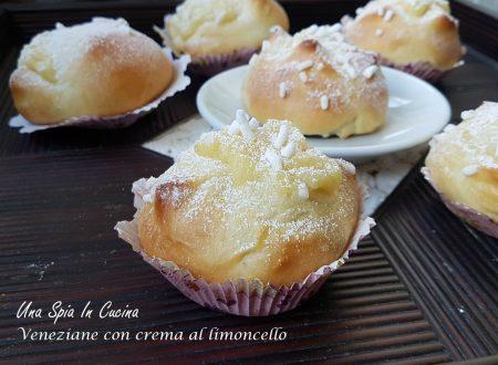 Veneziane con crema al limoncello