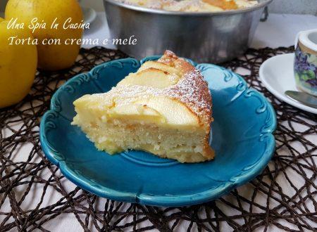 Torta con crema e mele al profumo di limone
