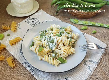 Pasta con fave e ricotta – Cucina siciliana