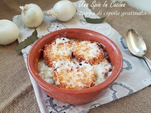 Zuppa di cipolle gratinata – Soupe à l'oignon