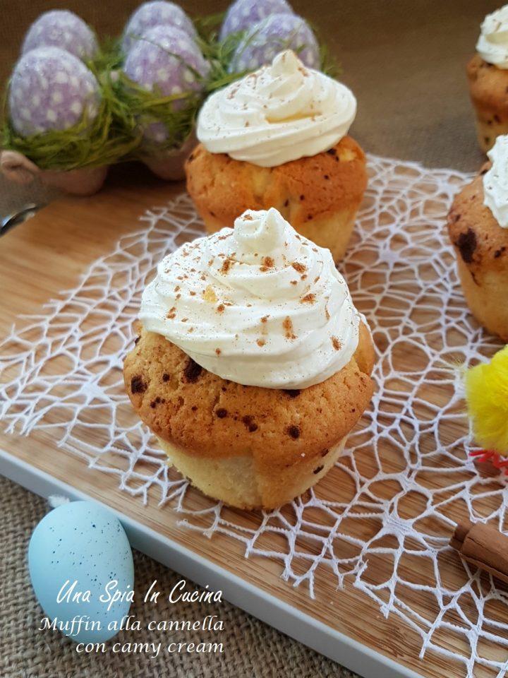 Muffin alla cannella con camy cream