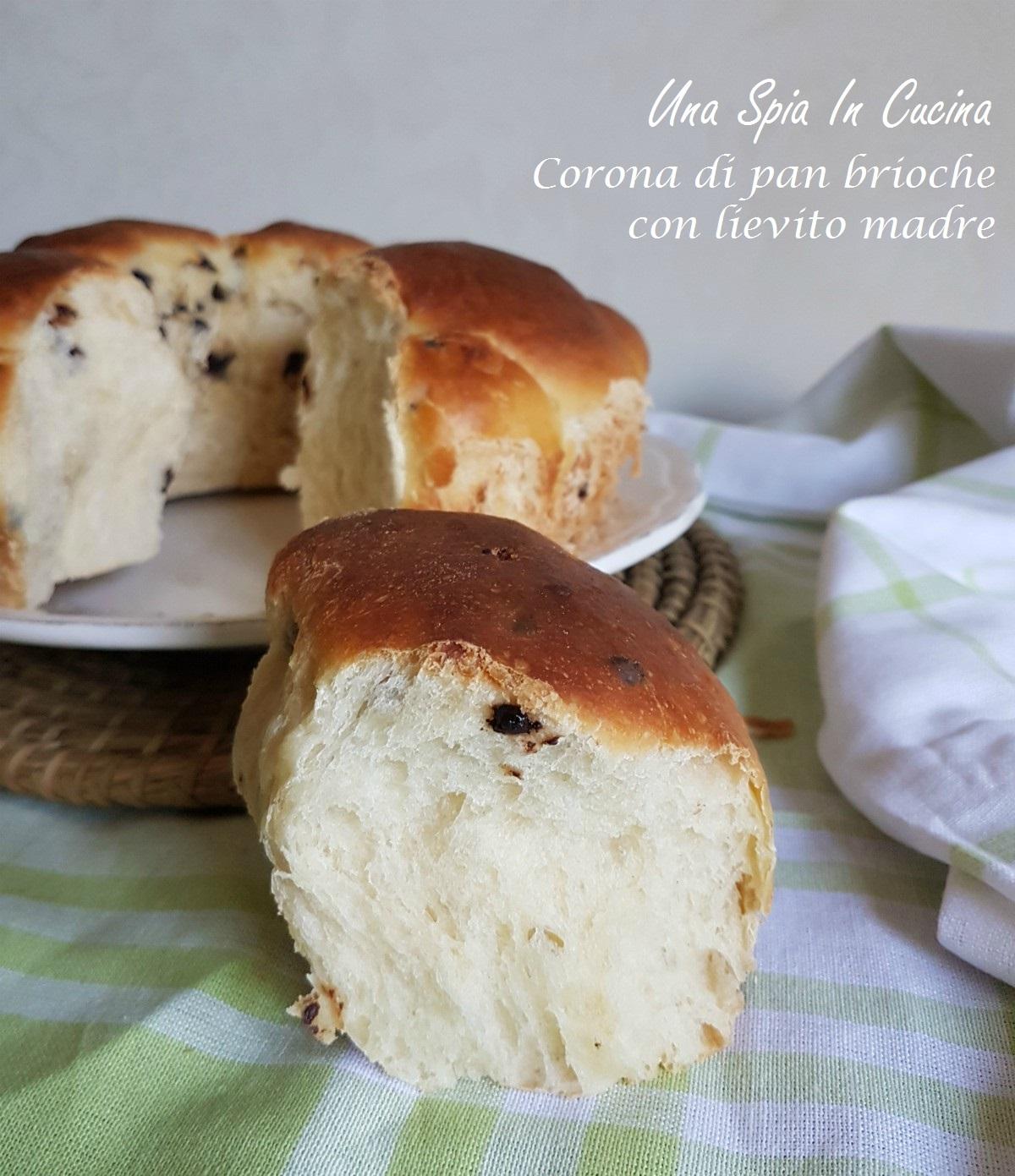 Corona di pan brioche con lievito madre