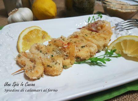 Spiedini di calamari al forno con panatura sfiziosa