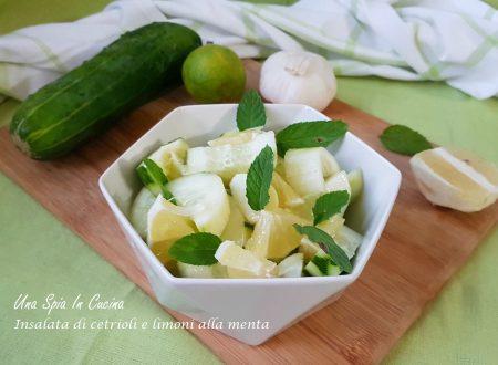 Insalata di cetrioli e limoni alla menta
