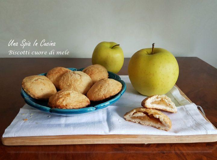 Biscotti cuore di mele