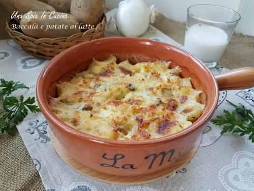 Baccalà e patate al latte gratinato al forno