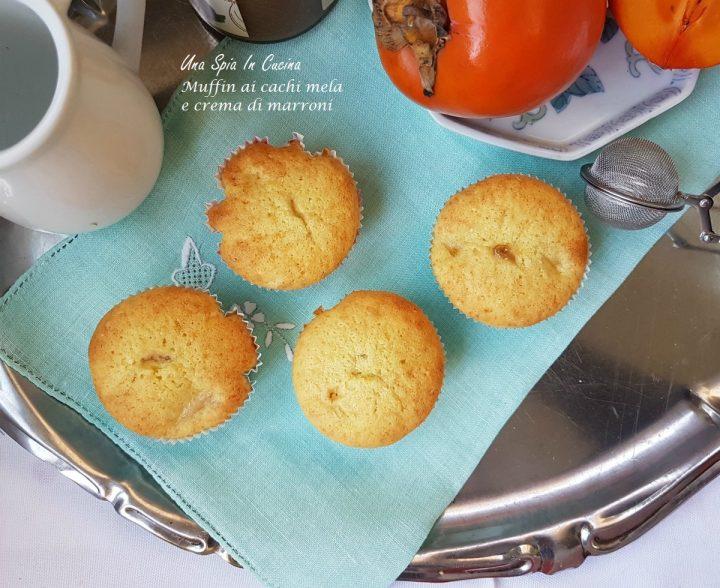 Muffin ai cachi mela e crema di marroni