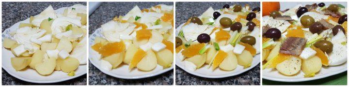 Insalata di patate e arance con finocchi e aringa