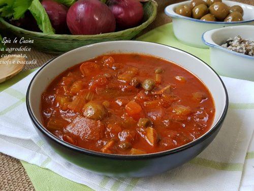 Salsa agrodolce per caponata, carciofi o baccalà