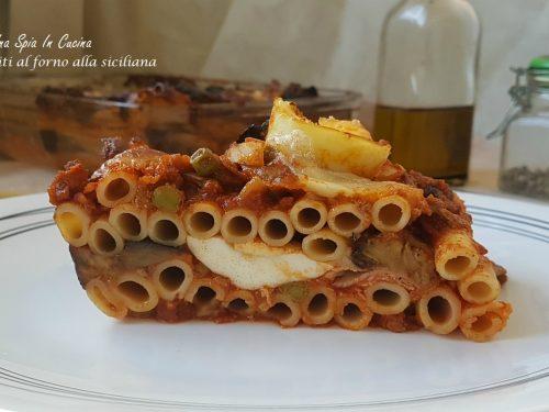 Ziti al forno alla siciliana con uova e melanzane