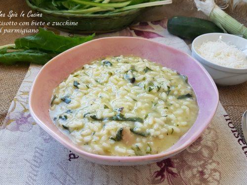 Risotto con biete e zucchine al parmigiano