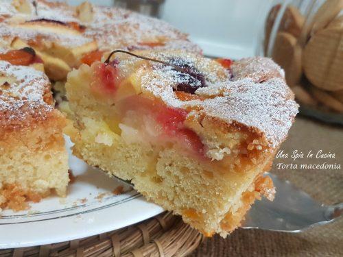 Torta macedonia soffice e profumata