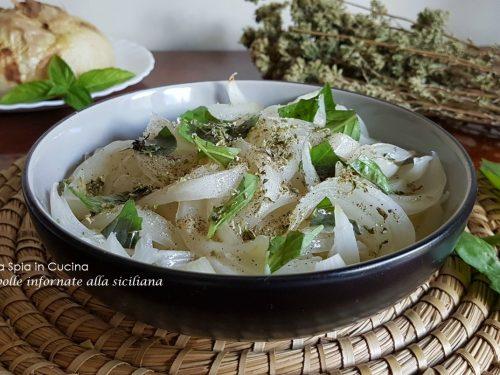 Cipolle infornate alla siciliana – contorno semplice