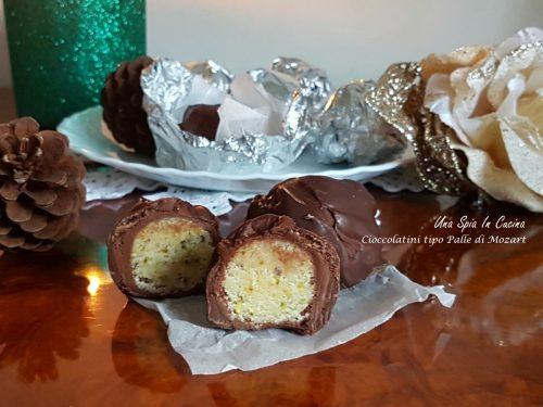 Cioccolatini ripieni di marzapane