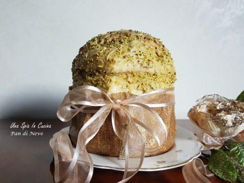 Pan di neve farcito con crema al pistacchio