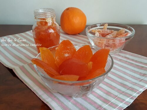 Scorze di arancia candite per farcire o decorare dolci